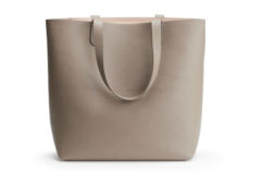 For Sale: CUYANA: Tall Structured Leather Tote | Stone