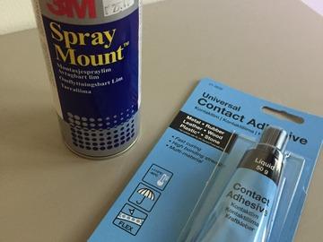Myydään: Spray Glue and liquid glue