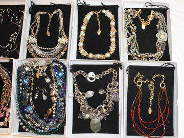 Liquidation/Wholesale Lot: 10 New High End Ali Khan Necklaces in Gift Boxes $600 Value