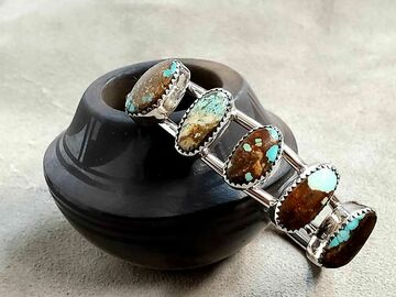 Selling: Five Stone Turquoise Bracelet