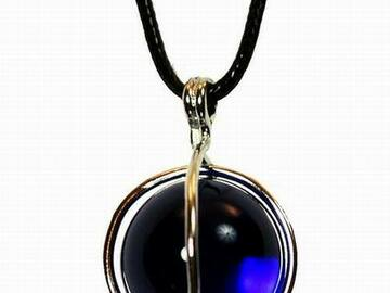 Buy Now: Exquisite Deep Blue Glass Marble Sphere Necklace