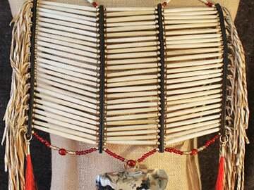 Selling: Bone Hairpipe Breastplate w/Pectoral Ornament