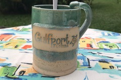 Selling with online payment: Gulfport 16 oz Handmade Pottery Mug