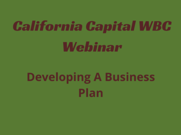 Workshop: Developing a Business Plan