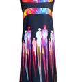 Vente au détail: Robe trapèze imprimée MAGDALENA noire