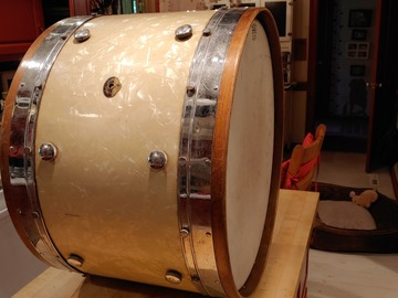 VIP Members' Sales Only: 14x24 Leedy & Ludwig WMP Knob Tension bass drum