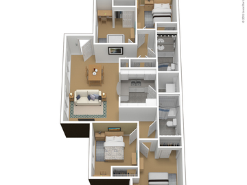 List Your Space: 1 Room in 4x2 Courtyards Apartment