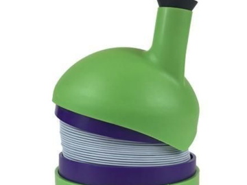 "Post Products: The Bukket Pipe - Waterless Gravity Pipe 20"" Green & Purple"