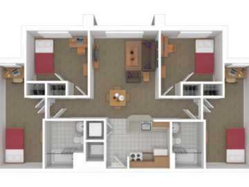 List Your Space: 1 Bedroom in South Campus Commons 7 (4x2)