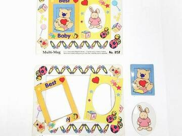 Buy Now: Baby Themed Decorated Punch Out Magnet Picture Frames