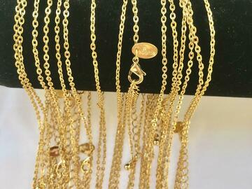 Buy Now: 50 pcs  Lia Sophia  Chains 14 kt Gold Plated Made in USA- 18 inch