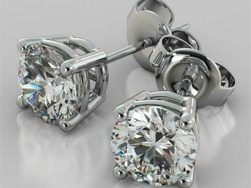 Liquidation/Wholesale Lot: 50 pair Hand Set CZ Stud Earrings 2 Carat T.W. Sterling Overlay