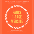 Offering online services: Fancy 1-Page Website & Blog