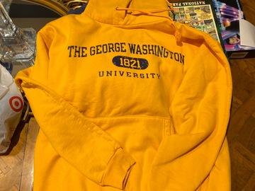 Selling A Singular Item: The GWU / Yellow-Gold Champion Sweatshirt