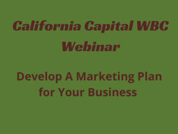 Workshop: How to Develop a Marketing Plan for Your Business