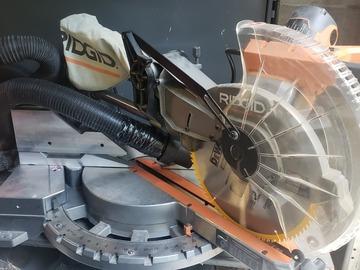 "Renting out equipment (w/o operator): Rigid 12"" Sliding miter saw"