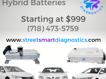 Service, Parts & Accessories: Toyota Camry Hybrid Batteries starting at $999