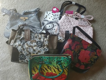 Buy Now: Lot of 5 New Handbags - Betsey Johnson, Patricia Nash, Anuschka +