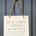 Selling with online payment: Virtual Learning Sign