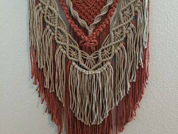 Selling with online payment: Spiced Cider Macrame Wall Hanging