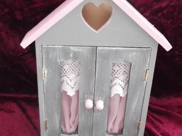 Vente au détail: Boîte à clé rose et grise
