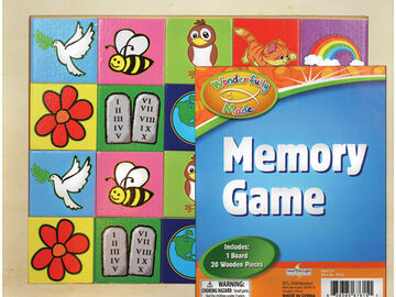 """Buy Now: """"Wonderfully Made"""" Educational Wooden Memory Match Game Toy"""