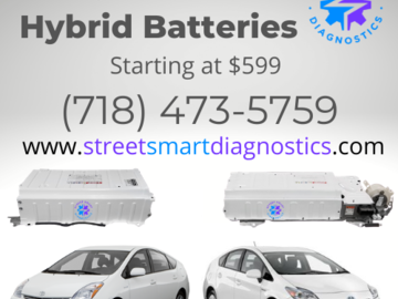 Service, Parts & Accessories: Toyota Prius Hybrid Batteries starting at $599