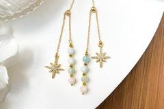 : Polaris Morganite Drop Earrings