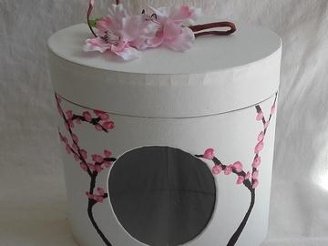 Vente au détail: Boîte ovale pommier en fleurs