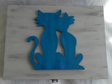 Vente au détail: Boîte de rangement et ses chats