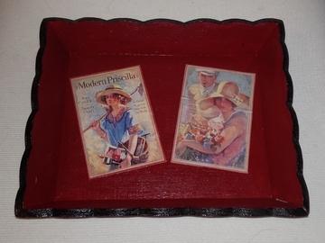 Vente au détail: Vide poche rouge vintage
