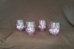 Selling with online payment: Butterfly Stemless Wine Glasses