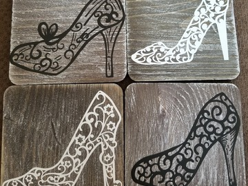 Selling with online payment: High Heel Coaster Set