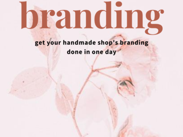Offering online services: Etsy Shop Branding in One Day PDF Guidebook