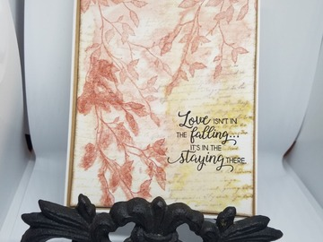 Selling with online payment: Watercolor Anniversary Greeting Card