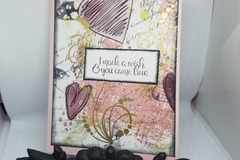 Selling with online payment: Mixed Media Anniversary Greeting Card