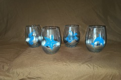 Selling with online payment: Set of 4 Ocean Stemless Wine Glasses