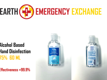 Instant Buy: Emergency-Aid Products: 75% Alcohol Gel Disinfectant 99.9% Effectiveness (60ml) MOQ1000