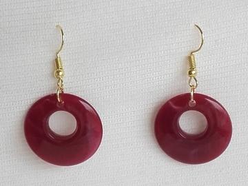 Sale retail: Boucles d'oreilles cercles rouges