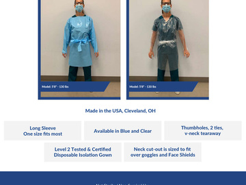 Sell your product: Disposable Isolation Gown