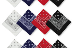 Buy Now: 600 Assorted 100% Cotton Paisley Bandanas
