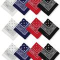 Buy Now: 1200 Assorted 100% Cotton Paisley Bandanas
