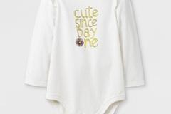 Make An Offer: 282 Piece Girls' Long  & Short Sleeve Cute Since Day 1 Bodysuit