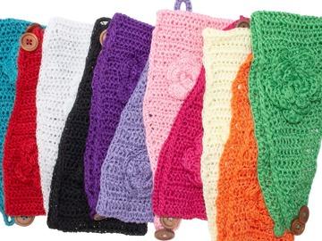 Buy Now: $1.25 Each. Lot of 100 handmade crochet headbands for women