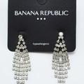 Buy Now: Dozen Banana Republic Silver Rhinestone Drop Earrings