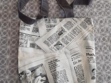 Vente au détail: Sac tote bag journal écologique