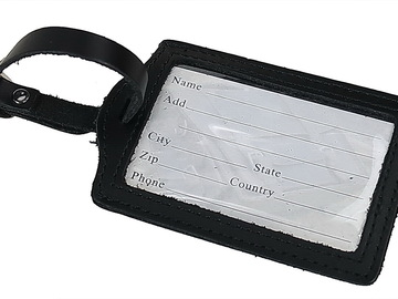 Buy Now: 200 Pieces Full Grain Leather Luggage ID Tags