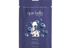 Liquidation/Wholesale Lot: Que Bella Toning Blueberry Peel Off Mask 0.5 Oz.