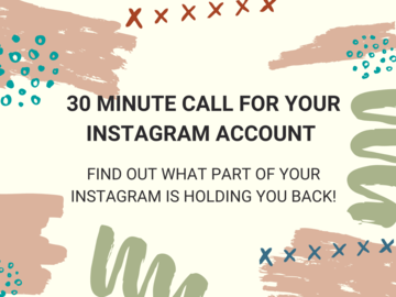 Offering expert consultation: 30 Minute Healthy Instagram Call