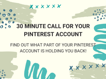 Offering expert consultation: 30 Minute Healthy Pinterest Business Call